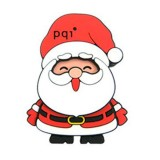 Pqi Stand Claus U843 USB 2.0 Flash Drive - 8GB