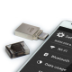 Silicon Power Mobile X10 OTG Flash Drive - 64GB