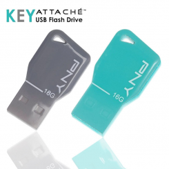 PNY key attache USB 2.0 Flash Drive - 16GB