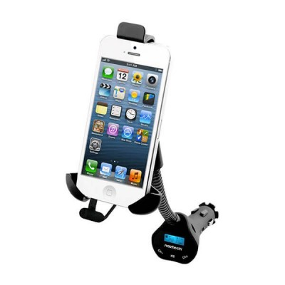 NAZTECH N3050 Universal Audio Transmitter and Adjustable Car Mount