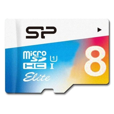 Silicon Power Color 8G Elite microSDHC UHS-I U1 85MBps Class10